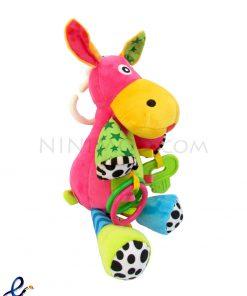 آویز موزیکال تخت و کریر نوزاد طرح Pink cow
