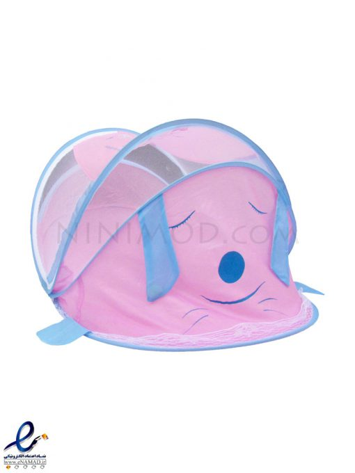 پشه بند موزیکال آبی صورتی نوزادی Mosquito net