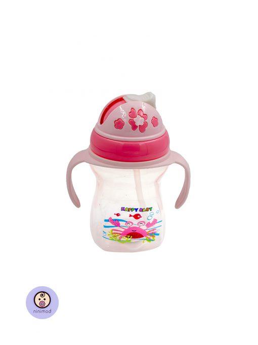 لیوان آب میوه خوری نی دار کودک و نوزاد