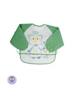پیشبند پوشیدنی آستین بلند کودک و نوزاد