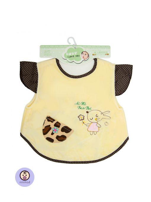 پیشبند پوشیدنی جیب دار کودک و نوزاد