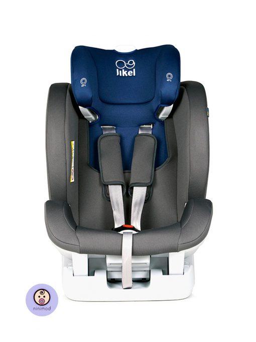 نمای رو به رو بدون پد صندلی ماشین جیکل Jikel UpGO All In One رنگ آبی