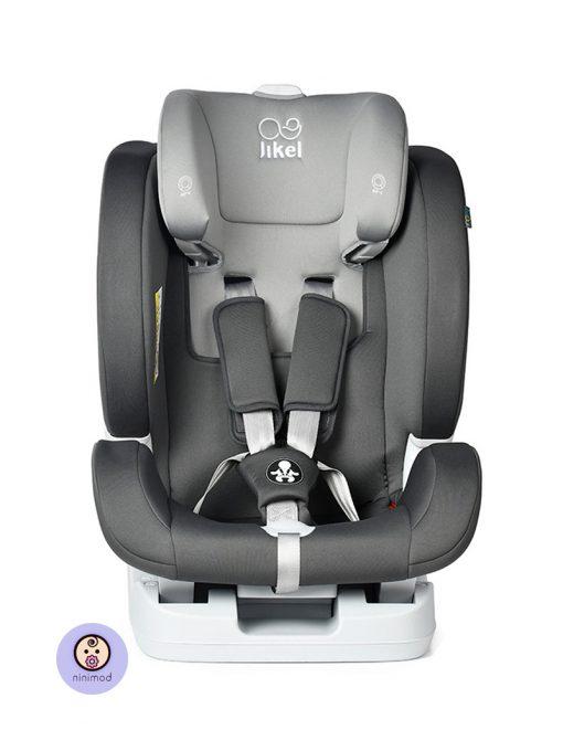 نمای رو به رو بدون پد صندلی ماشین جیکل Jikel UpGO All In One رنگ خاکستری