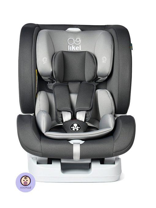 نمای رو به رو صندلی ماشین جیکل Jikel UpGO All In One رنگ خاکستری