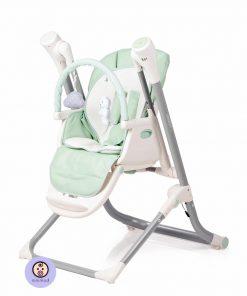 صندلی غذای کودک جیکل مدل کامفرت3 رنگ سبز نمای بغل