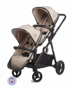 کالسکه دوقلوی کودک و نوزاد جیکل رنگ طوسی
