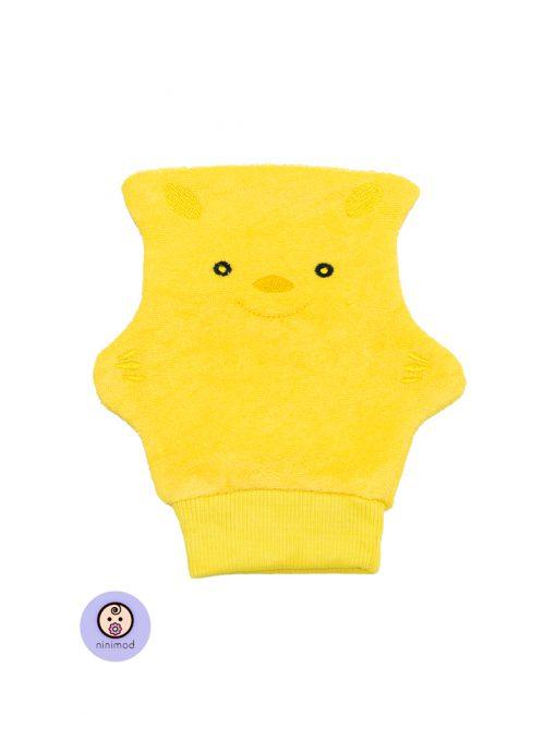 لیف حمام کودک و نوزاد رنگ زرد