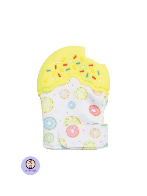 دنداگیر نوزاد طرح دونات رنگ زرد