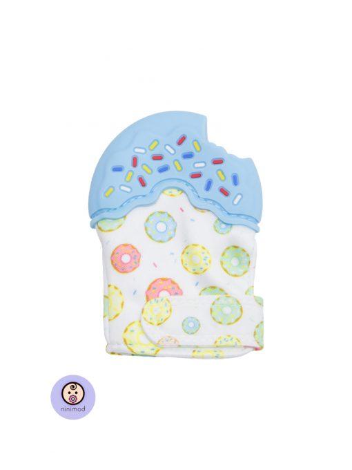 دنداگیر نوزاد طرح دونات رنگ آبی