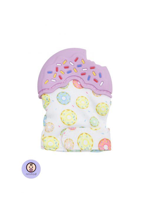دنداگیر نوزاد طرح دونات رنگ بنفش