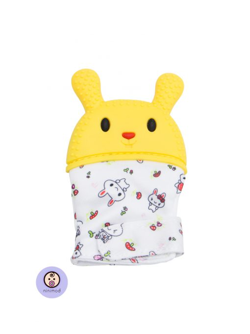 دندانگیر نوزاد طرح خرگوش رنگ زرد