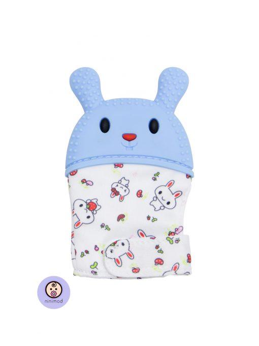 دندانگیر نوزاد طرح خرگوش رنگ آبی