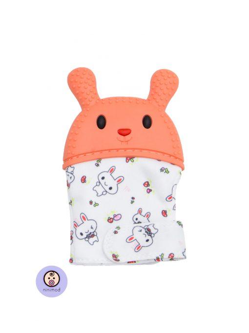 دندانگیر نوزاد طرح خرگوش رنگ نارنجی