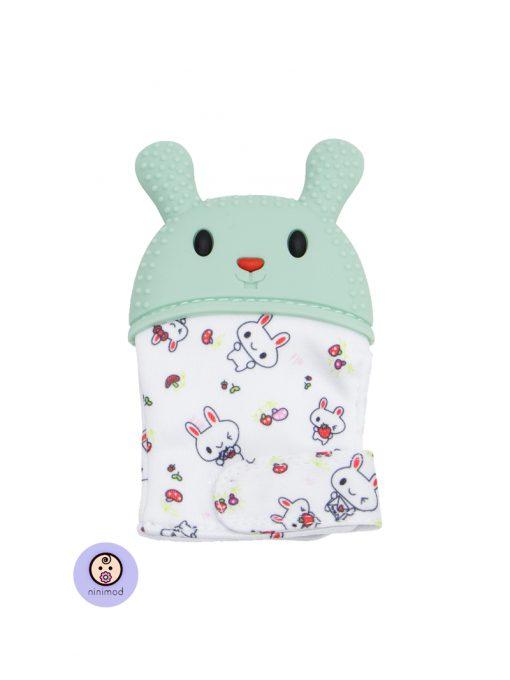 دندانگیر نوزاد طرح خرگوش رنگ سبز