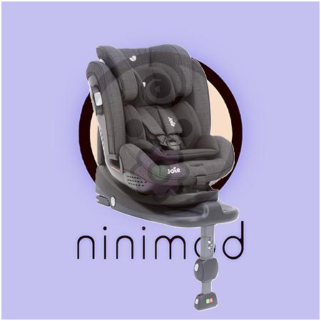صندلی ماشین کودک با ISOFIX و پایه محکم شونده به کف ماشین