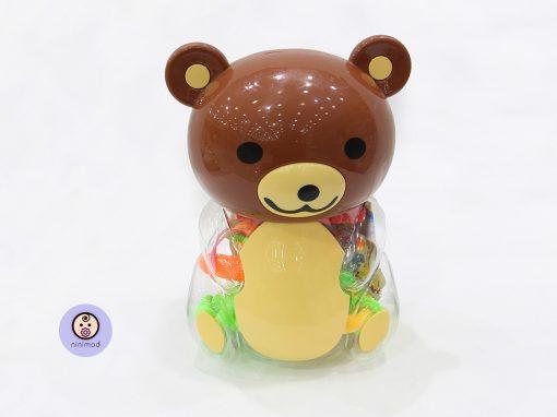 ست جغجغه طرح خرس قهوه ای