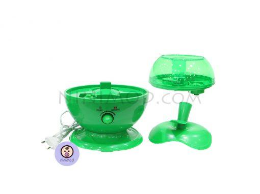 نمای باز شده دستگاه بخور سرد طرح اپل رنگ سبز
