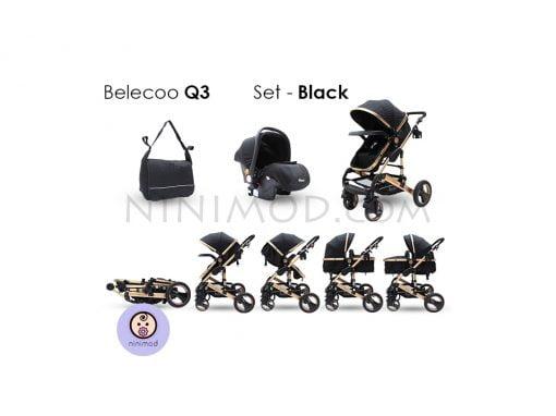 سرویس کالسکه بلکو Belecoo Q3 black