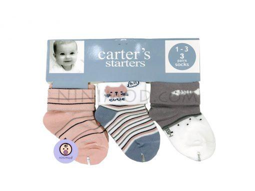 ست سه عددی جوارب نوزاد carters کد ۱۵