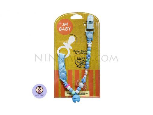 زنجیر پستانک Jm baby رنگ آبی