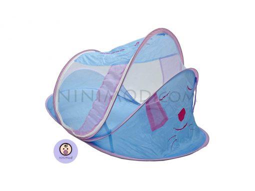 پشه بند موزیکال آبی Mosquito net