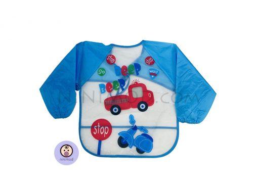 پیشبند پوشیدنی طرح beep beep آبی