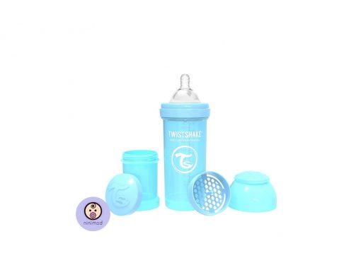 شیشه شیر آنتی کولیک ۲۶۰ میل Twistshake رنگ آبی 1