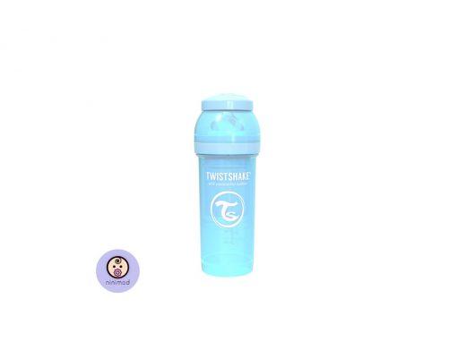 شیشه شیر آنتی کولیک ۲۶۰ میل Twistshake رنگ آبی