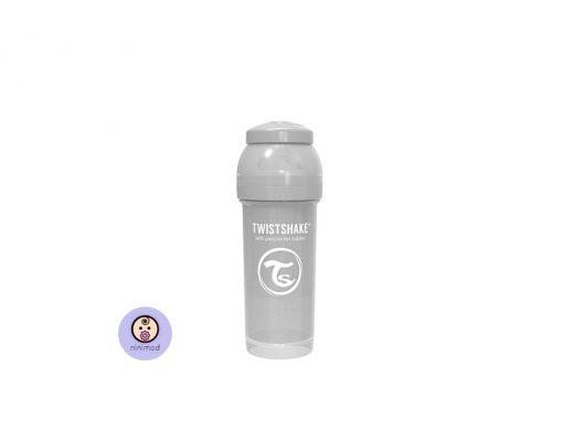 شیشه شیر آنتی کولیک ۲۶۰ میل Twistshake رنگ طوسی