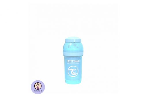 شیشه شیر آنتی کولیک ۱۸۰ میل Twistshake رنگ آبی