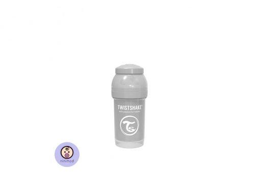 شیشه شیر آنتی کولیک ۱۸۰ میل Twistshake رنگ طوسی
