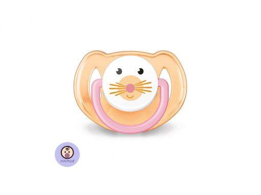 پستانک بادامی ۶-۱۸ ماهه Avent طرح موش