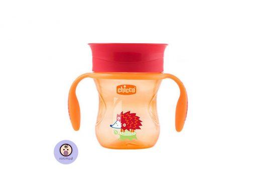 لیوان ۳۶۰ درجه Chicco رنگ نارنجی